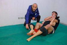 Francesco dal Pino Dojo ruan mostra tecnica di difesa da strangolamento